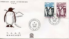 FDC / T.A.A.F. TERRES AUSTRALES TIMBRE N° 86 ET 88 / FAUNE /