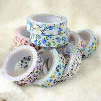 Colorful Flower Tape Decorative Washi Sticky Paper Fabric Tape Adhesive Craft