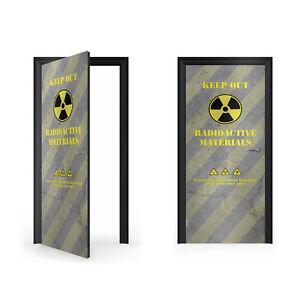 Warning Radioactive Materials Vinyl Sticker for Door / DoorWrap / Door Skin /...