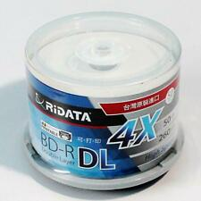 50 RIDATA 50GB Blank Blu-Ray BD-R DL 4X Dual Double Layer Inkjet Printable Disc