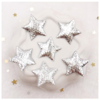 50 Silver Star Stars Waterproof Peel Off Shiny Reward Stickers Self Adhesive