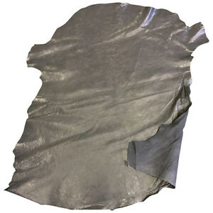 Grey Leather Hides Genuine Lamb Skins Soft Thin Sheepskin Craft Material  FS915