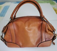 Womens Hand Bag Purse Natural Leather Tote Style