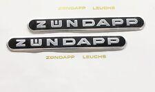 2 Zündapp Tankemblem Schwarz 1,5 x 13cm 442-10.193 Ks 50 Super Sport Emblem