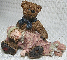 Boyds Bears & Friends, Yesterday's Child, Shelby Asleep-Teddys Arms (#3527) 1998