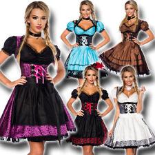 70000 Edles Jacquard Dirndl & Bluse 3-tlg XS-3XL Oktoberfest Trachtenkleid