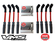 VMS 10.2MM RED SPARK PLUG WIRES SET CHEVY GMC TRUCK VORTEC ENGINES W NGK V-POWER