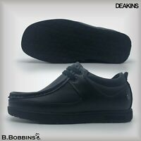 Deakins® Black Leather Boys Smart Shoes Size UK 10 11 12 13 1 2 School Boots
