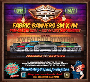IN STOCK! LIMITED NUMBERS -  XW FALCON GT GTHO 50 YEARS 3mx1m  FABRIC BANNER