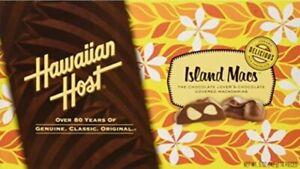 """(4x) 5oz BOX HAWAIIAN HOST """"ISLAND MACS"""" MILK CHOCOLATE COVERED MACADAMIA NUTS"""