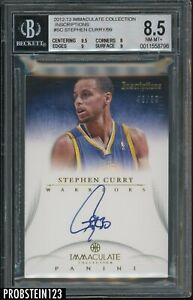 2012-13 Immaculate Inscriptions Stephen Curry Warriors 43/99 BGS 8.5 w/ 10 AUTO