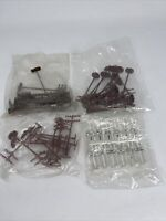 Lot of Model Train Telephone Poles and Signs