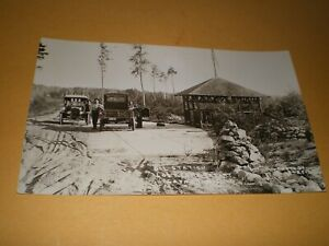 Old RPPC Oil Station Lost Lake Resort Sayner Wisconsin WI Parfitt Photo Postcard