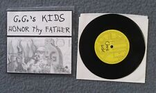 """GG Allin 7"""" Vinyl Go-Go's Kids Honor Thy Father (#37 Of Only 50) Smoked Colour"""