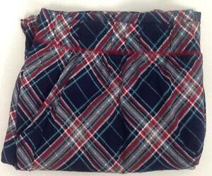 14/16 Cacique Lane Bryant Knit Cotton Pajama PJ Long Pant BLUE PLAID Loungewear