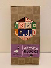 Wood Embossed Braille w/Sign Language Blocks Uncle Goose (26 of 28) Blocks