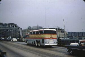 Queen City Trailways Beck Bus Kodachrome original Kodak Slide