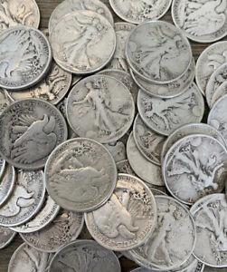 Walking Liberty Half Dollars 90% Silver Circulated CHOOSE QUANTITY FREE SHIPPING
