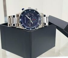 Genuine POLICE Designer Mens Watch Blue Dial Day & Date RRP£250 (PO108