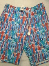 Johnnie-O West Coast Prep Amelia Pattern Board Shorts Swim Trunks NWT Medium $89