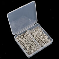 100 pcs Silber T Nadeln T Pins für Blockieren Perücken Nähen Basteln DIY