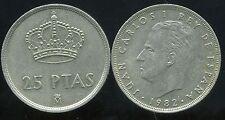 ESPAGNE  25 pesetas 1982   ( bis )