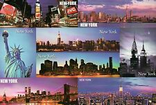Statue of Liberty, World Trade Center, Brooklyn Bridge, New York City - Postcard