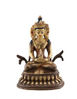 Soprammobile Tibetano Budda Amitayus Rame E Doratura Nepal Budda AFR9-337