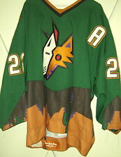 PHOENIX COYOTES Rick Tocchet game-worn 1998-99 green 3rd style jersey (1st year)