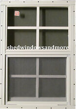 Shed Windows Playhouse Barn Storage Chicken Coop Lot of 2 14x21 White Flush