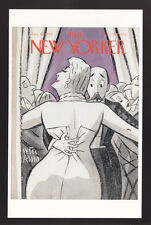 THE NEW YORKER MAGAZINE COVER ART POSTCARD Jan 6, 1940 Peter Arno Couple Dancing