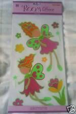 Girls Glow In the Dark Bedroom Wall Stickers ~ Nursery/Playroom ~ Flower Fairies