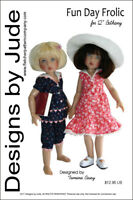 """Fun Day Frolic Doll Clothes Sewing Pattern for 12"""" Bethany Kish"""
