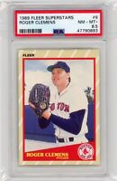1989 Fleer Superstars #9 Roger Clemens Boston Red Sox PSA 8.5 NM-MT+ Graded