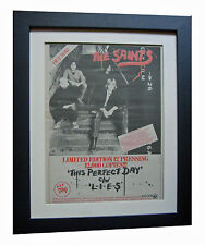 THE SAINTS+Perfect Day+POSTER+AD+RARE ORIGINAL 1977+PUNK+FRAMED+FAST GLOBAL SHIP