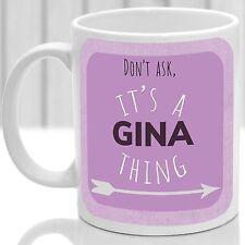 Gina's mug, Its a Gina thing (Pink)