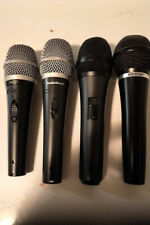Lot of 4 Dynamic Microphones