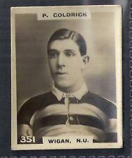 PINNACE FOOTBALL-BLACK OVAL BACK-#0351- RUGBY - WIGAN NU - P. COLDRICK