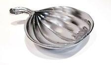 """Mariposa Small Pumpkin Sauce Dish 7¼""""Lx5⅝""""W Aluminum"""