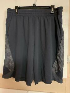 Nice Shorts Bottoms Mens Tek Gear Size XL Grey Camo Elastic Waist Pockets