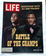 Vintage Boxing 1970 Life Magazine MUHAMMAD ALI CASSIUS CLAY Covers 2 JOE FRAZIER