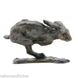 Solid Bronze Hare Sculpture Racing Hare Maquette by Sue Maclaurin
