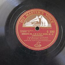 "12"" 78rpm J M SANROMA tchaikowsky concerto 1 1st mvmnt / grieg concerto a minor"