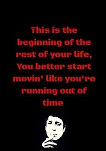 GERRY CINNAMON Music Lyrics Inspirational Motivational  Art Decor A4 Print