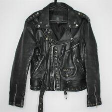 VTG Jarvis Bond Mens 40 80s Biker Rock Greaser Buffalo Leather Jacket L365