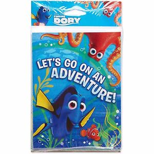 Finding Dory Invitations 8 ct. Disney Pixar Birthday Decorations Party Supplies