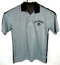 Extreme Mens Jack Daniels Racing Polo Racing Shirt Gray Cotton Poly Blend Medium