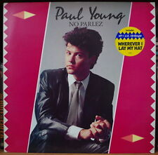 PAUL YOUNG NO PARLEZ WITH STICKER FRENCH LP