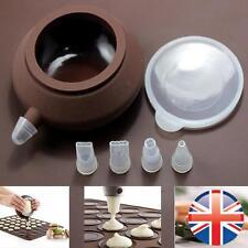 * vendedor Reino Unido * de silicona para hornear macarones Macaroon Glaseado tuberías Bolsa Con 4 Boquillas Molde