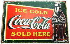 Coca Cola (2) De Metal Lata signos Vintage Cafe Pub Bar Cocina Retro Decoración de coque